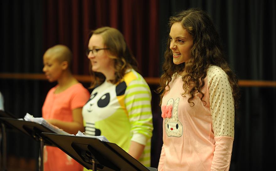 Myha'la Herrold, Greta Kleckner, Kate Margalite   Photo: Matt Polk