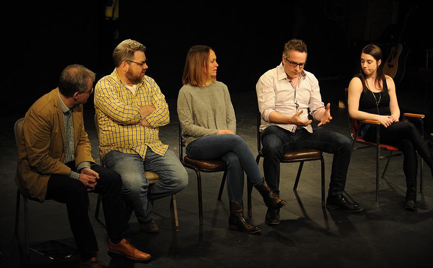 Mark Fleischer, Kent Nicholson, Janet Allard, Niko Tsakalakos, Emily Marshall | Photo: Matt Polk