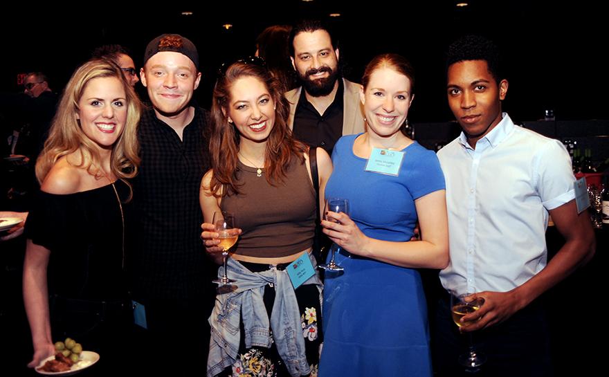 Katie Sexton, Ashton Guthrie, Allie York, Michael Sullivan, Jenny Malarkey, Jonathan Blake Flemings. Photo by Matt Polk.