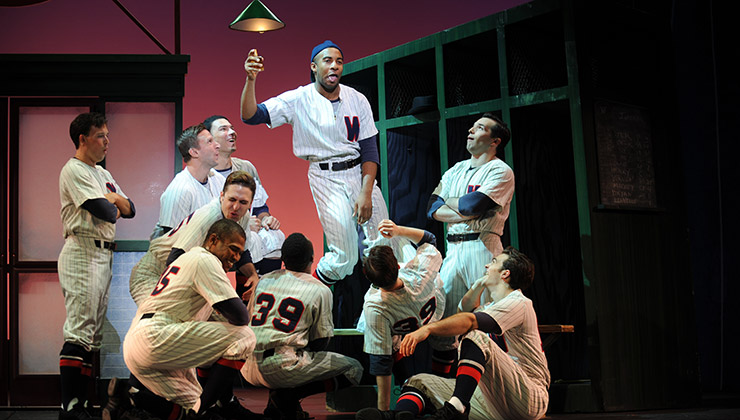 The cast of Pittsburgh CLO's Damn Yankees