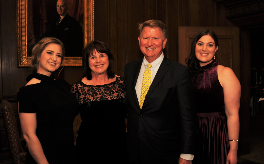 Event Chairs Kelly & Emily Lambert with parents Sandy & Bill Lambert