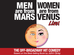 Men are from Mars - Women are from Venus LIVE! Logo