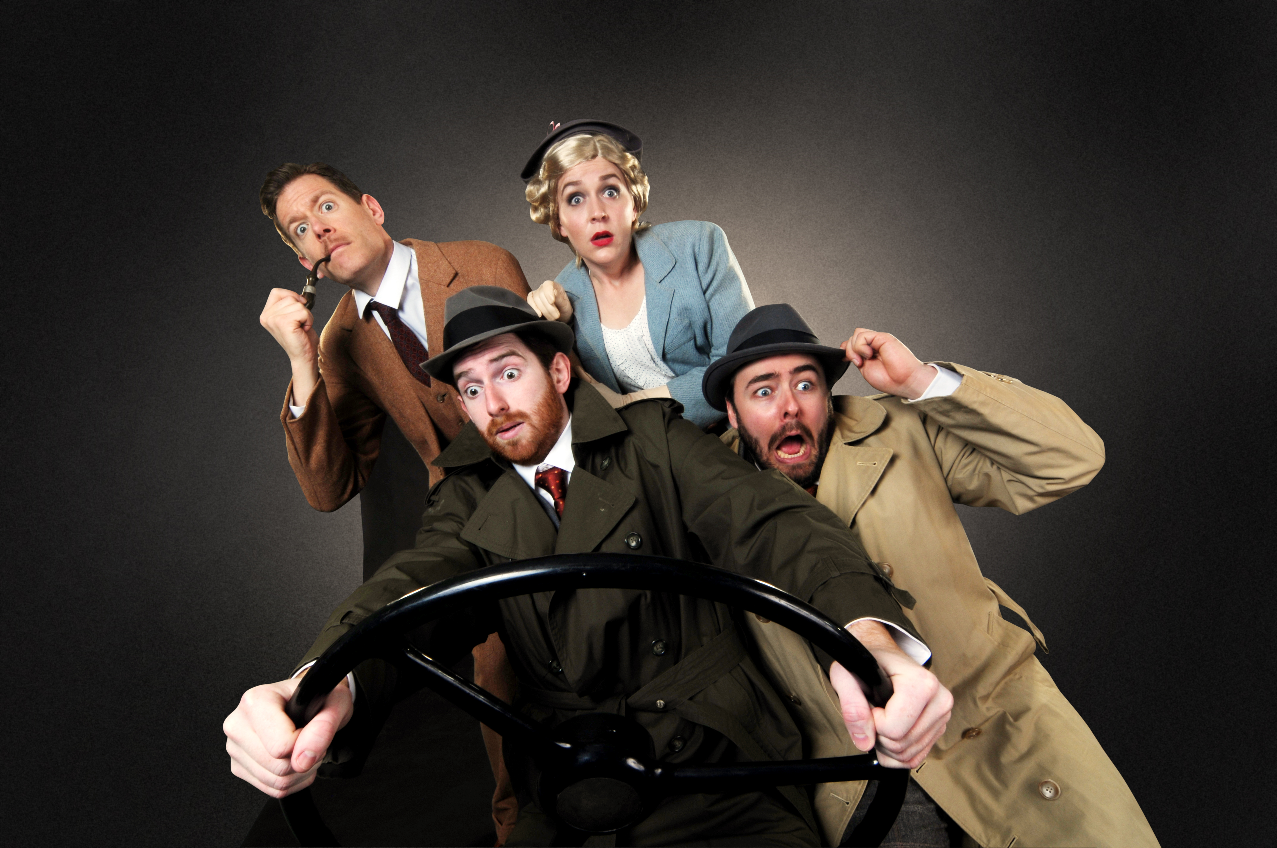 Allan Snyder, Luke Halferty, Megan Pickrell and Quinn Patrick Shannon star in this summer's production of 'The 39 Steps' at the CLO Cabaret