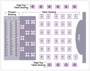 CLO Cabaret seating chart