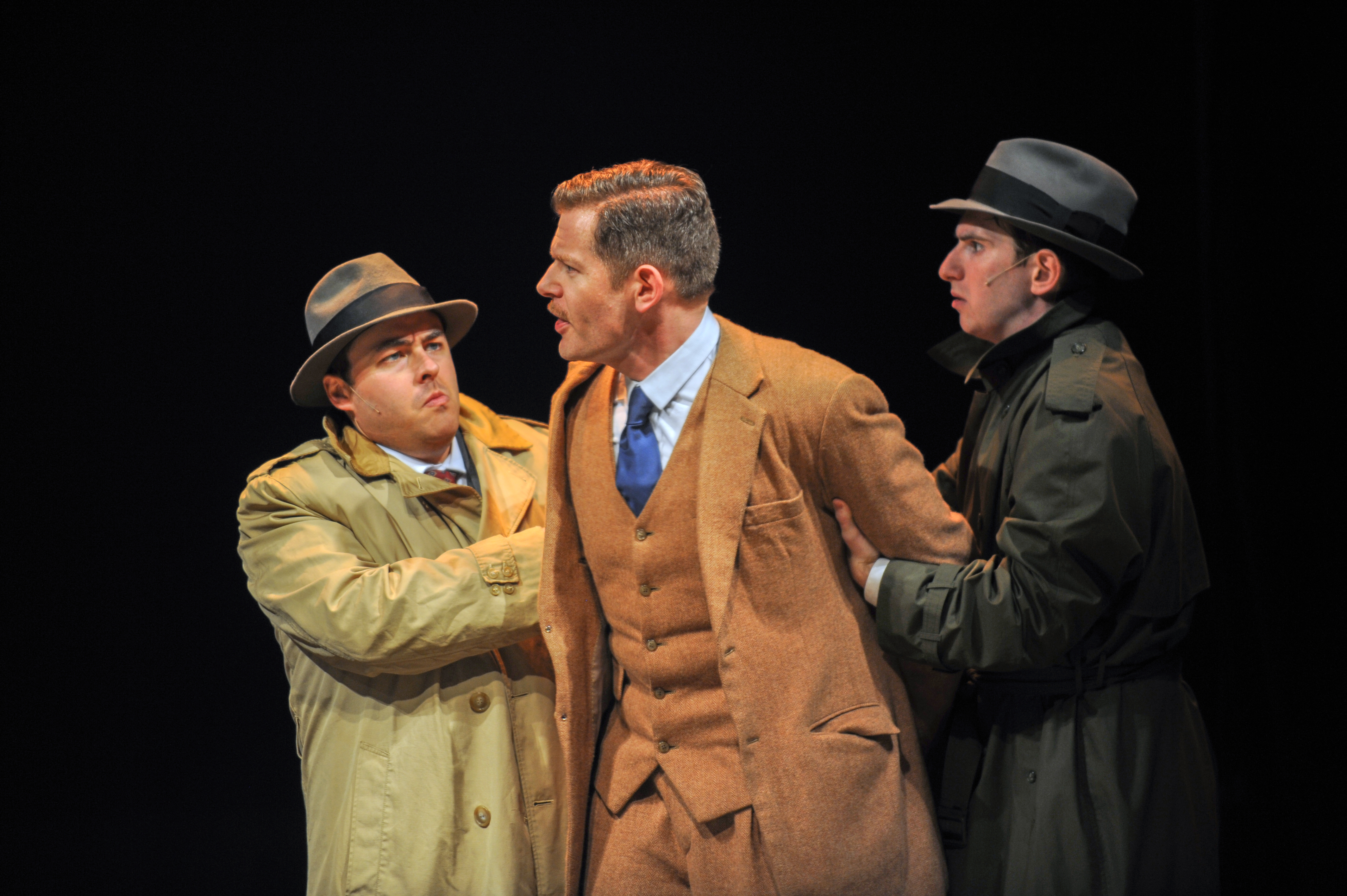 Quinn Patrick Shannon, Allan Snyder and Luke Halferty in The 39 Steps at the CLO Cabaret