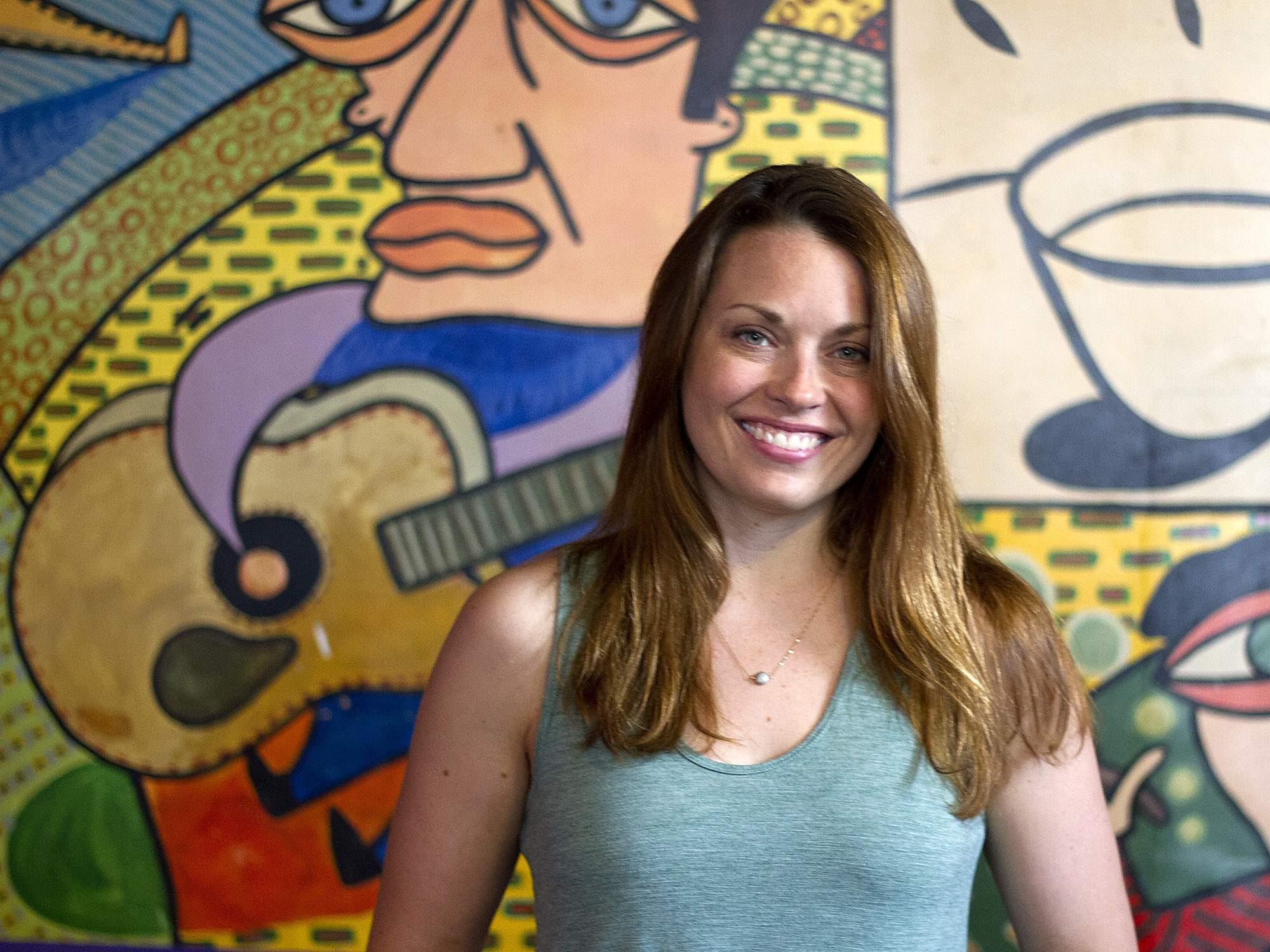 Kelly Trumbull takes a rare break from the theater at a South Side coffee shop