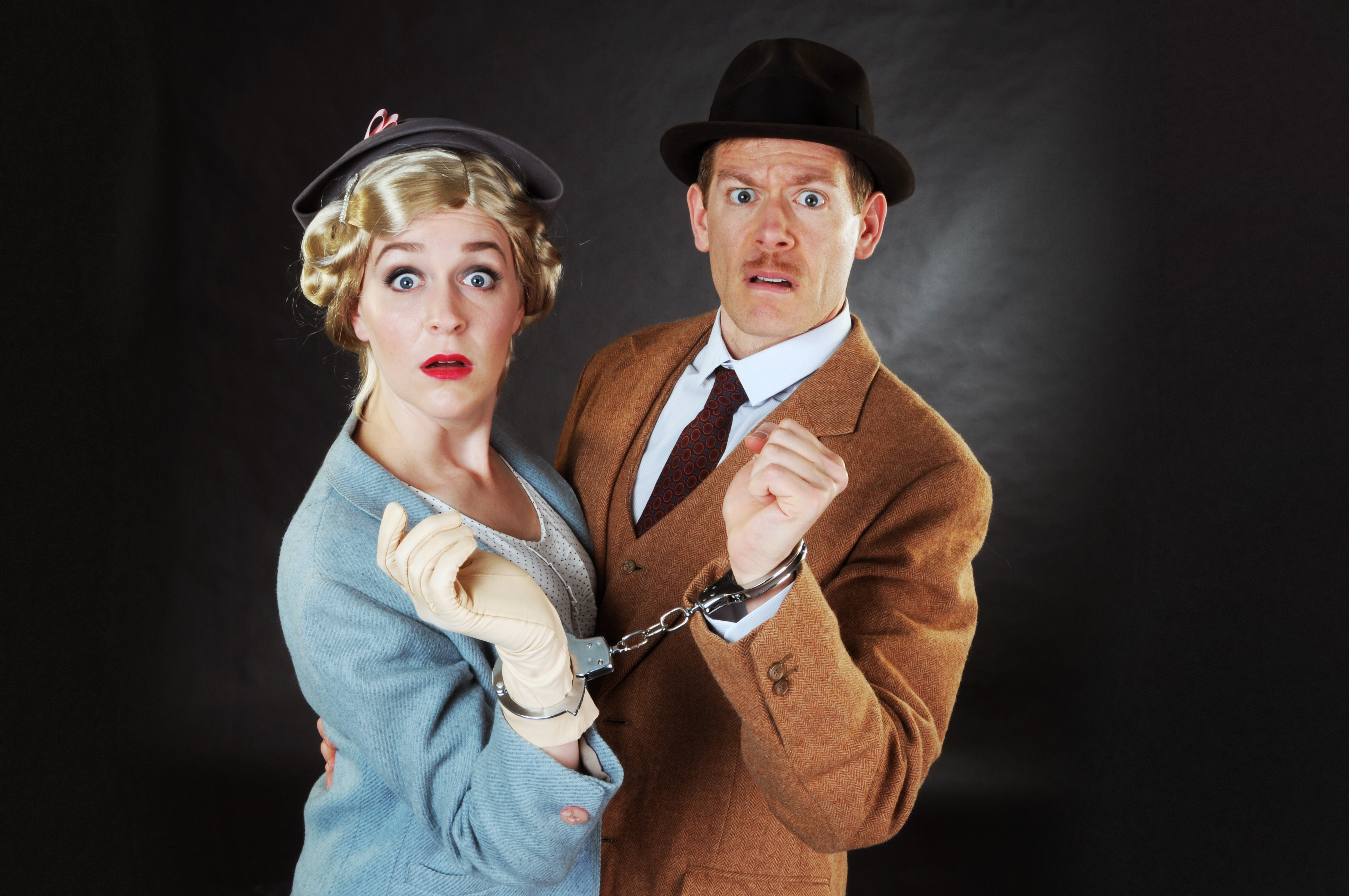 Megan Pickrell and Allan Snyder are on the run in the CLO Cabaret's 'The 39 Steps'