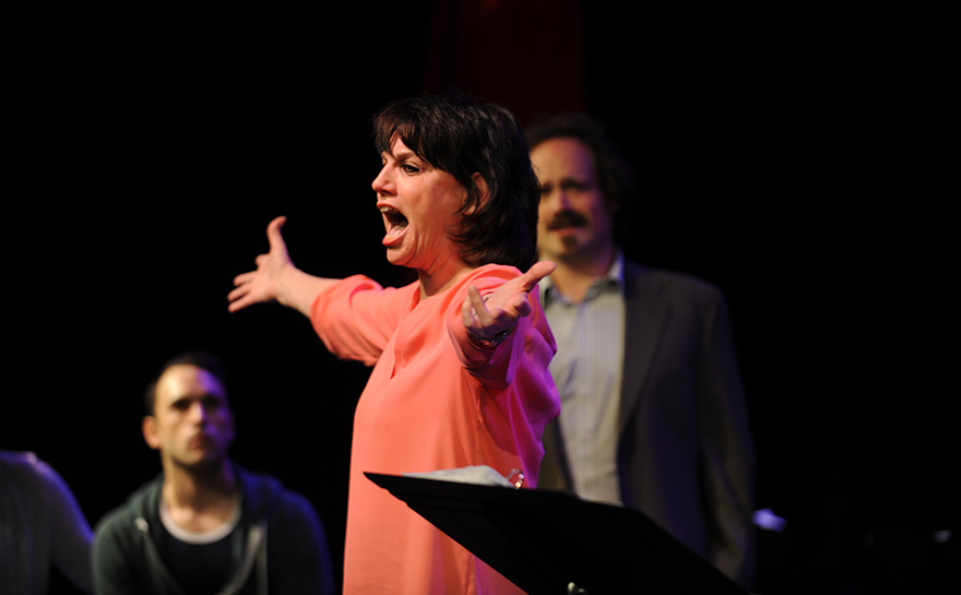 Jerreme Rodriguez, Beth Leavel, J. Alex, Noble, THE DOUBLE-THREAT TRIO | Photo: Matt Polk