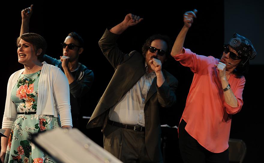 Drew Leigh Williams, Jerreme Rodriguez, J. Alex Noble, Beth Leavel | Photo: Matt Polk