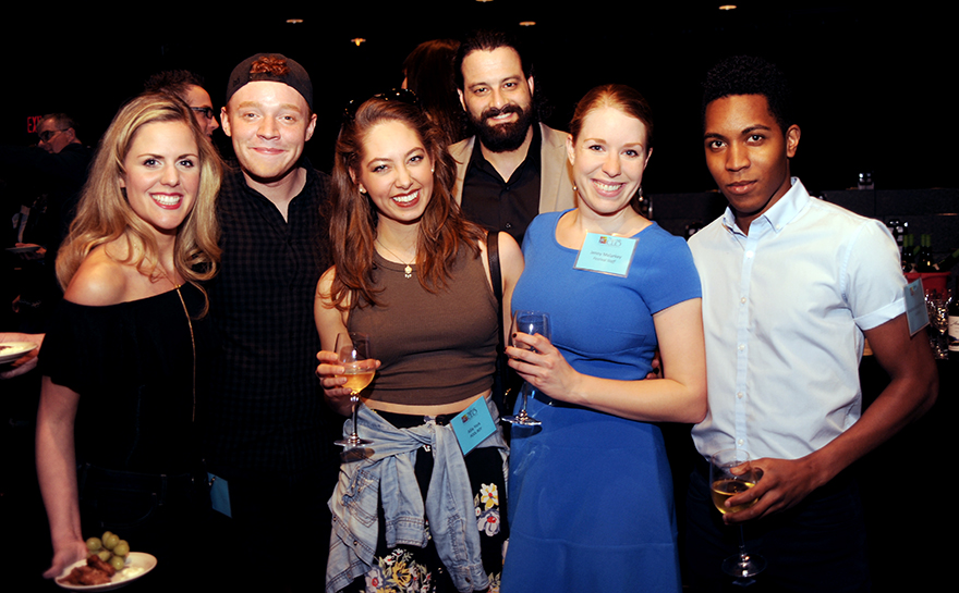 Katie Sexton, Ashton Guthrie, Allie York, Michael Sullivan, Jenny Malarkey, Jonathan Blake Flemings. Photo by Matt Polk.