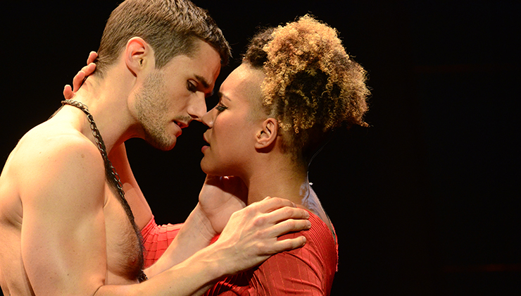 Emmy Raver-Lampman and Mark Evans in Pittsburgh CLO's Aida