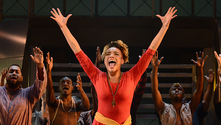 Emmy Raver-Lampman plays Aida in Pittsburgh CLO's production of Elton John's Aida