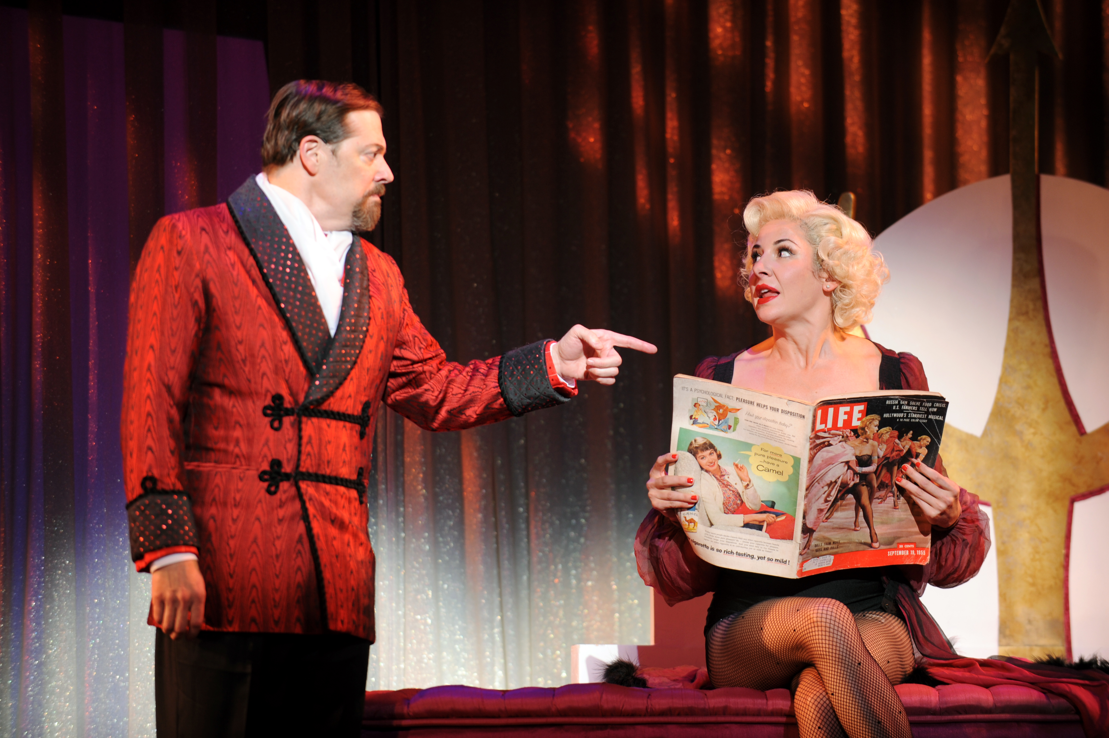 John Bolton as the devilish Applegate and Sarrah Strimel as Lola in Pittsburgh CLO's