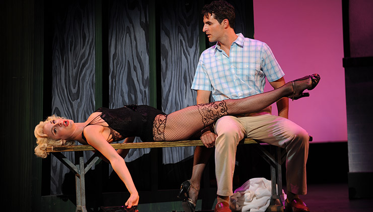 Sarrah Strimel and John Riddle in Pittsburgh CLO's Damn Yankees