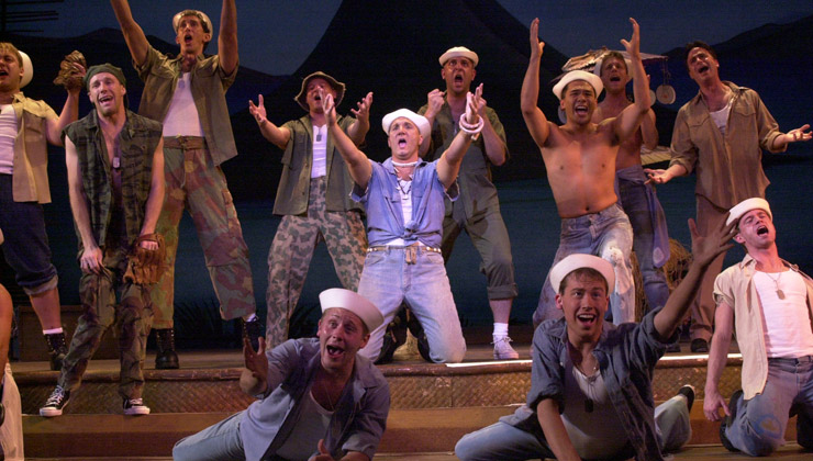 South Pacific sailors singing
